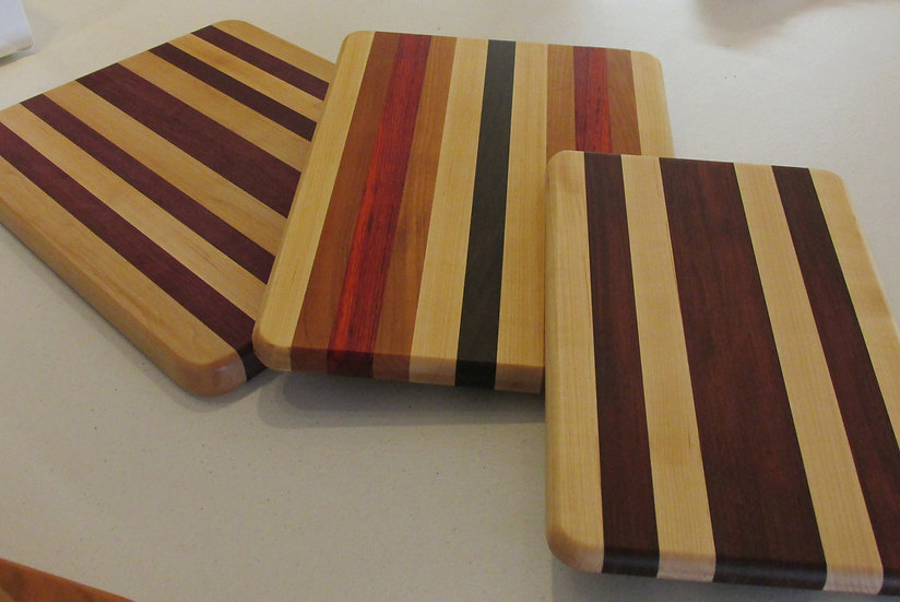 Hand Made Wooden Cutting Boards, Choice of Woods