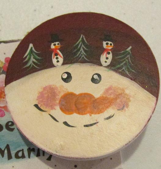 Snowman Holiday Pin