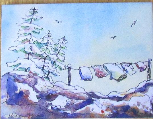 Brisk Breezes, Ceramic Tile by Artisan Dianne Horton