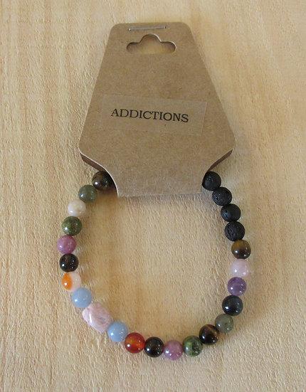 """""""Help Addictions"""" Aromatherapy Stretchy Bracelet"""