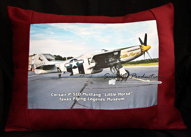 Corsair P-51D Mustang Warbird Pillow