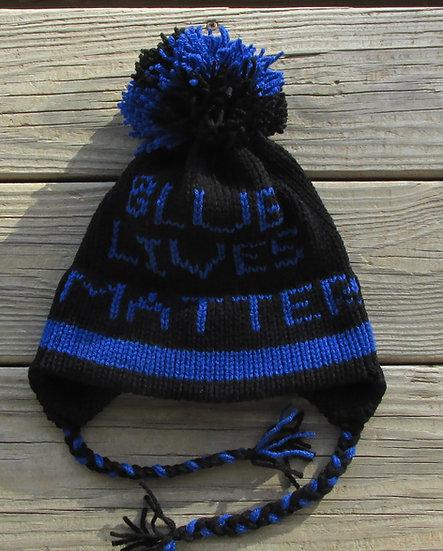 Blue Lives Matter Handknit Hat