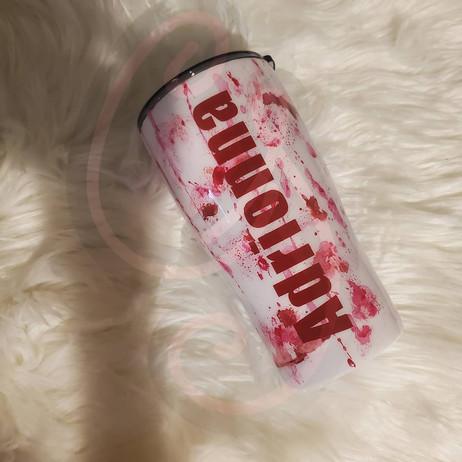 Deadpool Hand Painted Tumbler