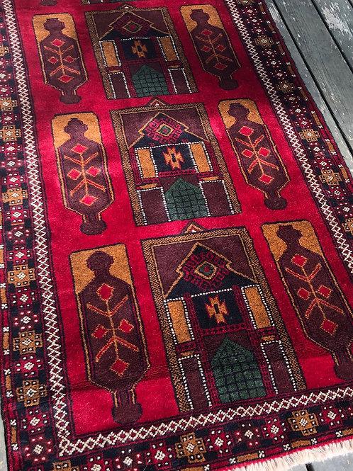 Afghan Royal Baluch Prayer Rug
