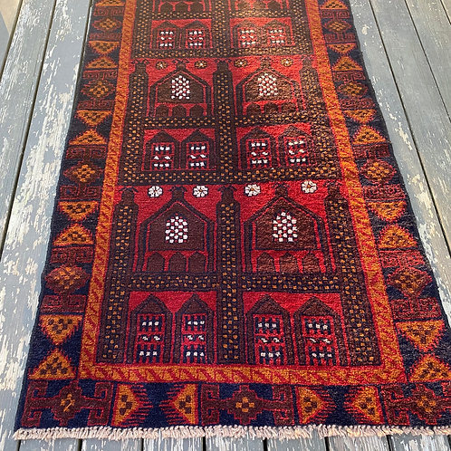 Afghan Royal Baluch Prayer Rug