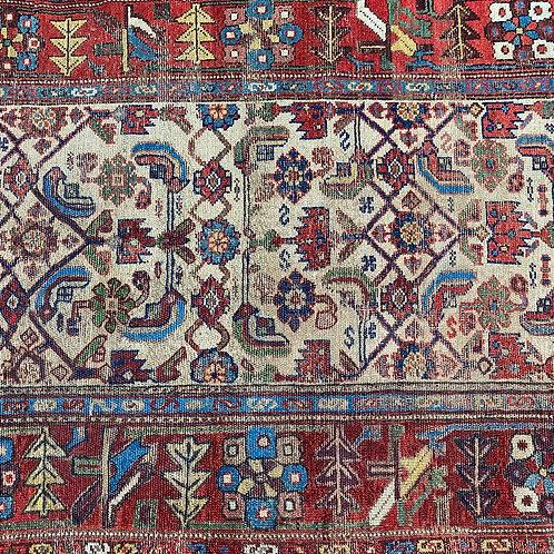 Persian Heriz Serapi Runner, Distressed