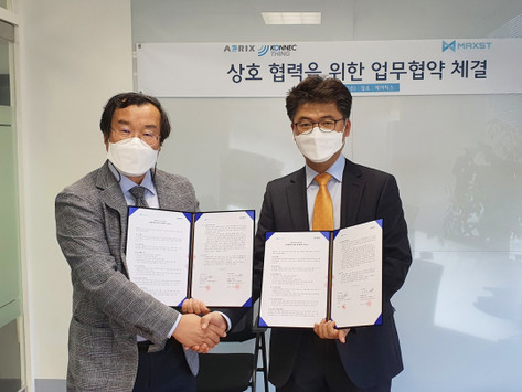 IoT Facility Specialist AERIX and MAXST Signed a Business Agreement