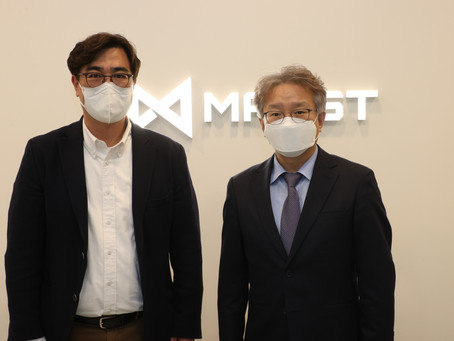 Minister of Korean SMEs and Startups Visited MAXST