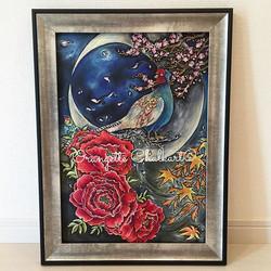 クライアント様からオッケーが出ましたので。 『花鳥風月』 (A3)__自然の美し