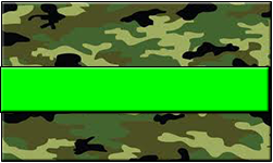 Jungle Camo Swallet Lime Band