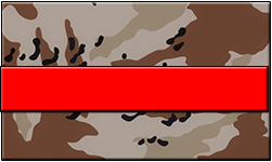 Desert Camo Swallet Red Band
