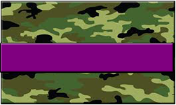 Jungle Camo Swallet Purple Band