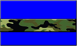 Blue Swallet Jungle Camo Band