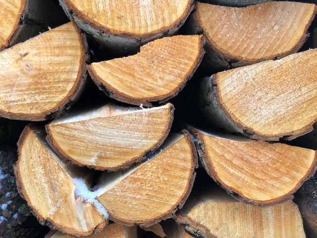 Snow on kiln dried logs?