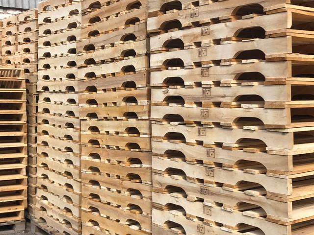 In-house pallet production