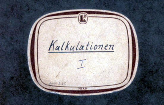 Kalkulationsbuch Nr. 1