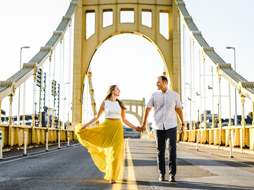 Megan & Tyler || Schenley Park & Pittsburgh Riverfront Engagement Session