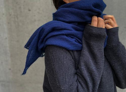 藍染ふわふわショールウール(カシミヤ20%混) アンダイドプラスオリジナル