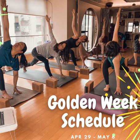 2021 Golden Week Schedule / ゴールデンウィークスケジュール