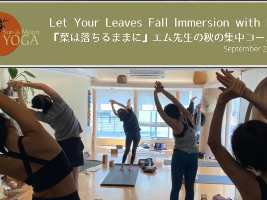 Let Your Leaves Fall Immersion with Em. Sep 20/ 『葉は落ちるままに』エム先生の秋の集中コース 9月20日