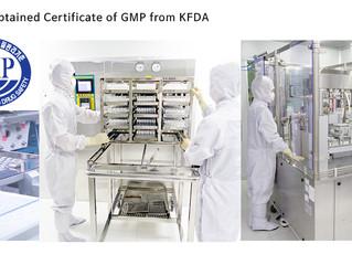 식약처 GMP 인증 획득