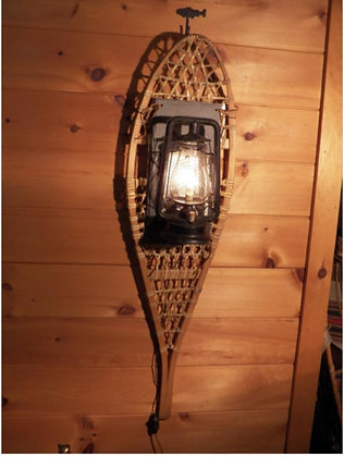 Antique Snow shoe Electric Lantern