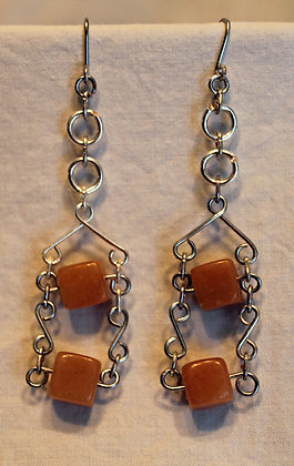 Golden Jade Earrings