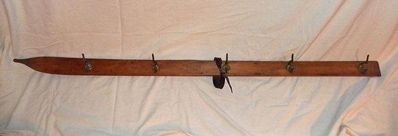 Wooden Ski Coat Rack