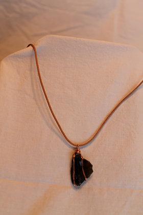 Necklace: Fulgurite and Copper