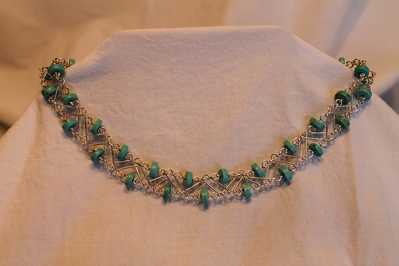 Necklace: Turquoise and silver