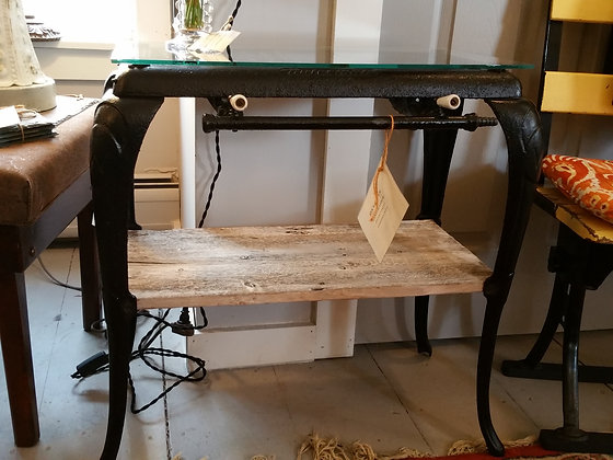 Antique cast iron cook stove table