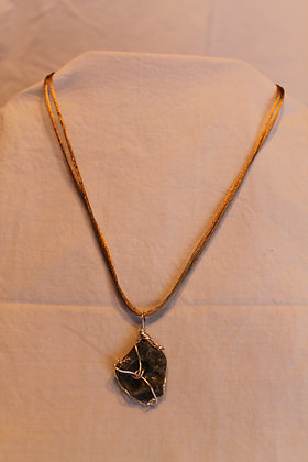 Necklace: Fulgurite and Sterling Silver