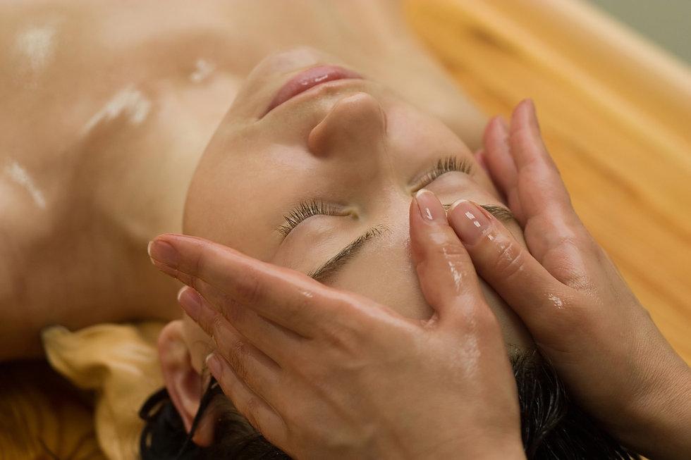 young woman on the ayurvedic aromatherap