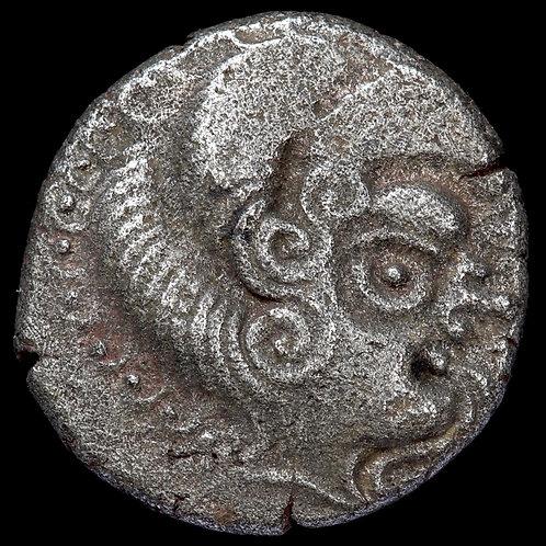 Celtic Gaul, Channel Islands, Armorican. Billon Stater, c.75-50 B.C. Class III.