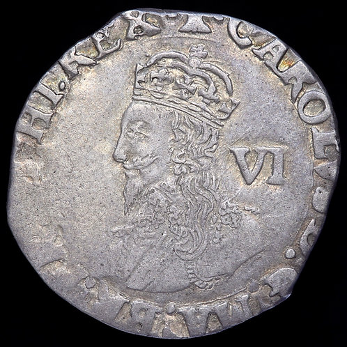 Charles I, 1625-49. Sixpence, mm. Bell, 1634-5. Tower Mint Under Parliament.