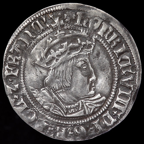 Henry VIII, 1509-47. Groat, mm. Rose. 2nd Coinage, 1526-44. Laker Bust B.