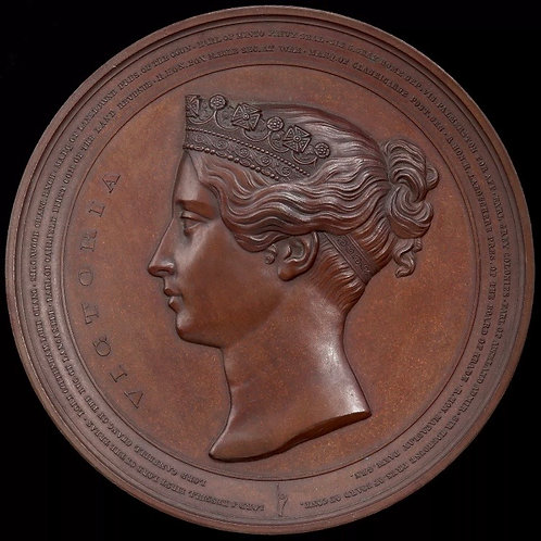 Members Of The House Of Commons, 1849. Large Bronze Medal, By L. C. Lauer. 95mm.