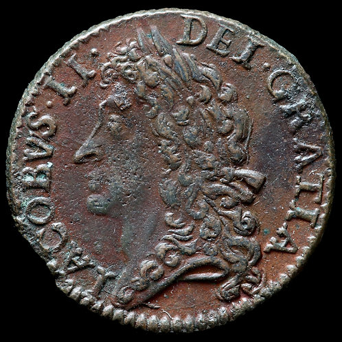 Ireland. James II, 1685-91. Civil War Issue, 'Gun Money'. Shilling, Jan 1689.