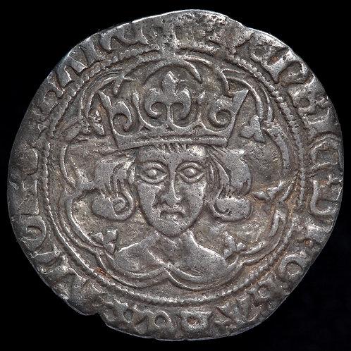 Henry VII, 1485-1509. Groat, mm. Cinquefoil. London Mint. Type IIa.