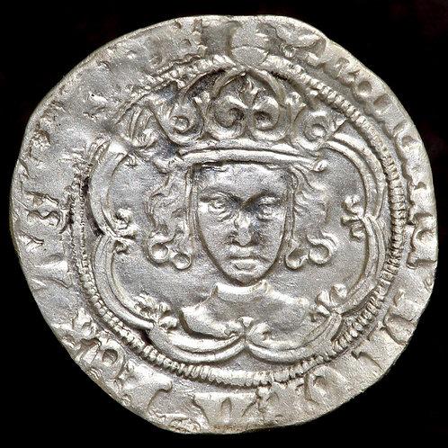 Henry VII, 1485-1509. Groat. Class IIId. London Mint, mm. Anchor.
