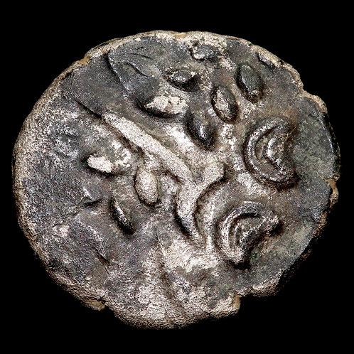 Celtic Britain. Durotriges Tribe. Billon Stater, c.50 BC-50 AD. 3.57g.