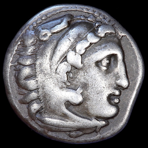 Ancient Greece. Alexander III (The Great), 336-323 BC. AR Drachm. Kolophon Mint.