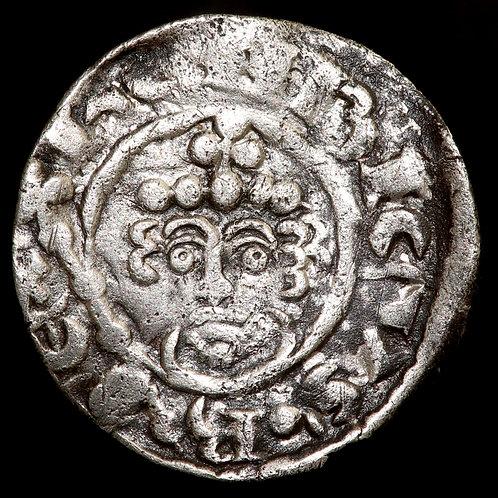 Henry II, 1180-89. Penny. Short Cross Type, Class 1b. London Mint.