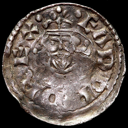 Edward The Confessor, 1042-66. Facing Bust / Small Cross Type. Canterbury Mint.