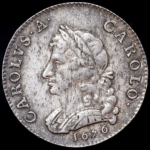 Charles II. Silver Pattern Farthing, 1676. Scarce.