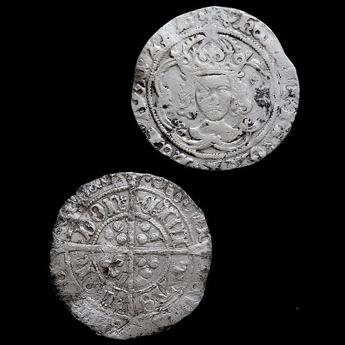 Henry VII, 1485-1509. Groats. London Mint. mm. Pansy and Anchor. (2 Coins)