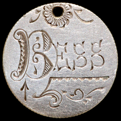 Victoria, 1837-1901. Sixpence, 1897. Engraved And Pierced As A Love Token.