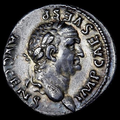 Vespasian, 69-79 A.D. Silver Denarius, PONTIF MAXIM. Rome Mint, 73 A.D.