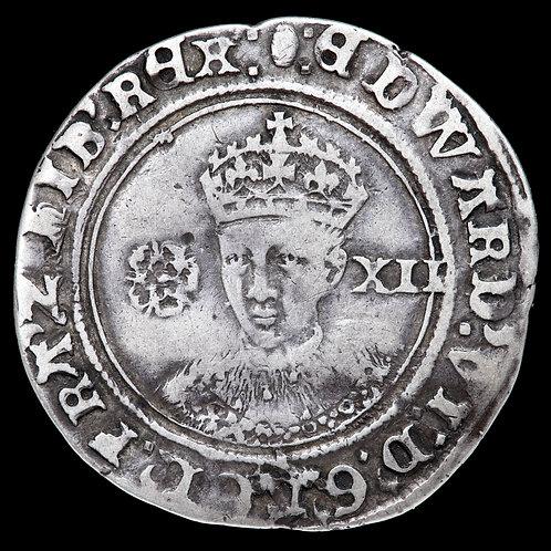 Edward VI, 1547-53. Shilling. Fine Silver Issue, mm. Tun, 1551-3.