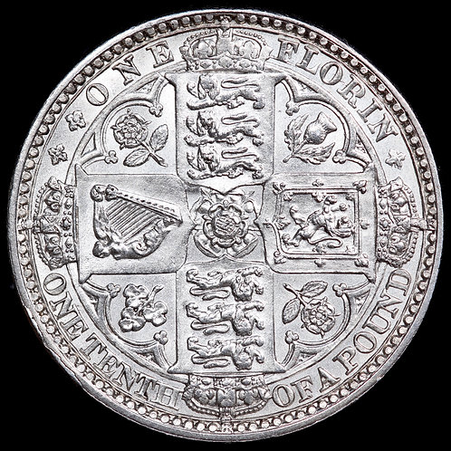 Victoria, 1837-1901. Godless Type Florin, 1849.